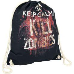 Keep Calm And Kill Zombies Torba treningowa czarny. Czarne torebki klasyczne damskie Keep Calm And Kill Zombies, z napisami. Za 42,90 zł.