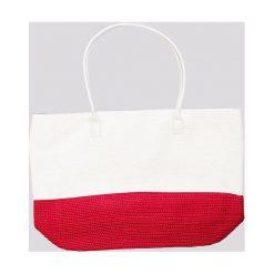 Torby plażowe: Torba dwukolorowa biało-czerwona