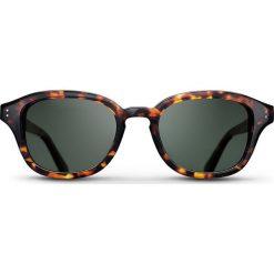 """Okulary przeciwsłoneczne """"Havana Frank"""" w kolorze brązowo-zielonym. Brązowe okulary przeciwsłoneczne damskie lenonki marki Triwa, z tworzywa sztucznego. W wyprzedaży za 259,95 zł."""