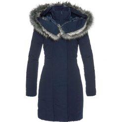 Płaszcz ze sztucznym futerkiem bonprix ciemnoniebieski. Niebieskie płaszcze damskie z futerkiem bonprix. Za 239,99 zł.