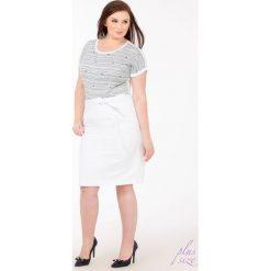 Spódniczki: Lniana spódnica z paskiem Plus