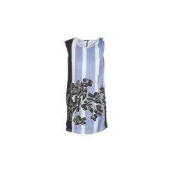 Sukienki krótkie Sisley  LAPOLLA. Niebieskie sukienki mini Sisley, z krótkim rękawem. Za 295,20 zł.