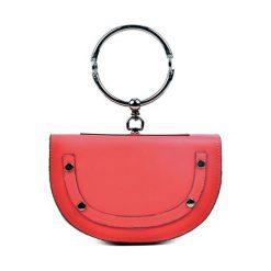 Torebki klasyczne damskie: Skórzana torebka w kolorze czerwonym – (S)15 x (W)23 x (G)5 cm