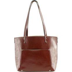 Torebki klasyczne damskie: Skórzana torebka w kolorze brązowym – (S)45 x (W)35 x (G)18 cm