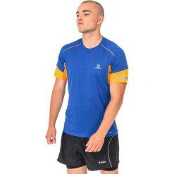Salomon Koszulka męska Agile Tee Surf The Web niebiesko-pomarańczowa r. XL (393865). Czarne t-shirty męskie marki Salomon, z gore-texu, na sznurówki, outdoorowe, gore-tex. Za 90,23 zł.