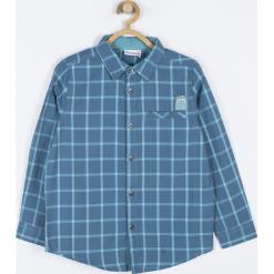 Koszula. Niebieskie koszule chłopięce z długim rękawem WRAY, z aplikacjami, z bawełny, z klasycznym kołnierzykiem. Za 69,90 zł.