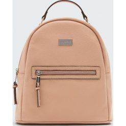Plecak w miejskim stylu w kolorze nude. Brązowe plecaki damskie Pull&Bear. Za 99,90 zł.