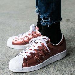 """Buty adidas Superstar Boost Women """"Copper Metallic"""" (BB2270). Czarne buty sportowe damskie marki Adidas, z kauczuku. Za 164,99 zł."""