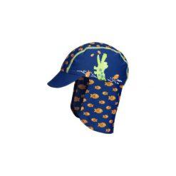 Playshoes  Czapka UV Krokodyl - niebieski - Gr.Moda (2 - 6 lat). Niebieskie czapeczki niemowlęce marki Playshoes, z elastanu. Za 49,00 zł.
