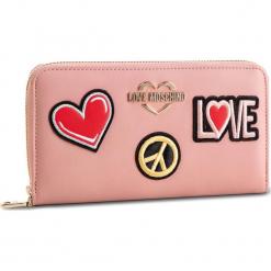 Duży Portfel Damski LOVE MOSCHINO - JC5604PP17LJ0600 Rosa. Czerwone portfele damskie marki Love Moschino, ze skóry ekologicznej. Za 429,00 zł.