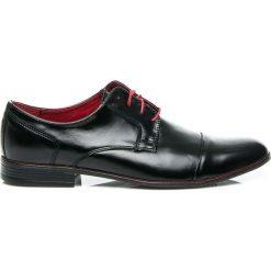 SKÓRZANE PÓŁBUTY WIZYTOWE. Czarne buty wizytowe męskie LUCCA. Za 199,00 zł.