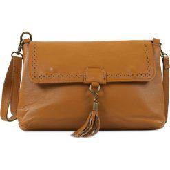"""Torebki klasyczne damskie: Skórzana torebka """"Amber"""" w kolorze brązowym – 26 x 15 x 8,5 cm"""