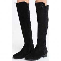 Czarne Kozaki Northern. Czarne buty zimowe damskie marki Born2be, z materiału, na płaskiej podeszwie. Za 119,99 zł.