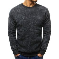 Bluzy męskie: Bluza męska z nadrukiem antracytowa (bx3412)