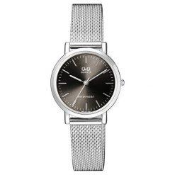 Biżuteria i zegarki męskie: Zegarek Q&Q Męski QA21-212 Klasyczny Mesh srebrny