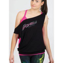 Bluzki sportowe damskie: Spokey Koszulka fitness Puff czarna r. uniwersalny (839538)