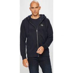 Calvin Klein Jeans - Bluza. Czarne bejsbolówki męskie Calvin Klein Jeans, l, z bawełny, z kapturem. Za 499,90 zł.