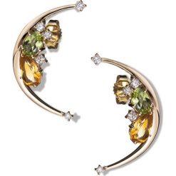 Kolczyki damskie: Złote Kolczyki – złoto żółte 750, Brylant 0,23ct…