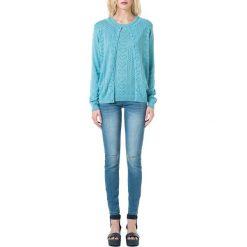 Kardigany damskie: Sweter ażurowy z przodu