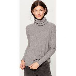 Miękki sweter z golfem - Szary. Brązowe golfy damskie marki Mohito, m. Za 79,99 zł.