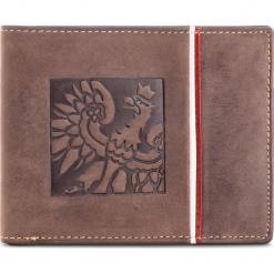 Duży Portfel Męski PETERSON - 304 Brown 02. Brązowe portfele męskie marki Peterson, z nubiku. Za 129,00 zł.