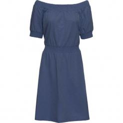 Sukienka shirtowa, krótki rękaw bonprix indygo. Niebieskie sukienki mini marki bonprix, z krótkim rękawem. Za 27,99 zł.