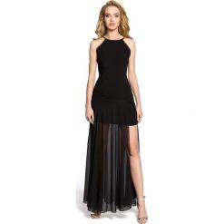 TRINITY Wieczorowa sukienka maxi - czarna. Czarne długie sukienki Moe, na imprezę, z poliesteru, wizytowe, bez rękawów, dopasowane. Za 179,90 zł.