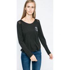 Roxy - Bluzka. Czarne bluzki asymetryczne Roxy, l, z bawełny, casualowe, z okrągłym kołnierzem. W wyprzedaży za 99,90 zł.