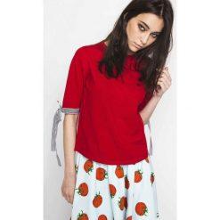 Kardigany damskie: Sweter z okrągłym dekoltem, drobny splot