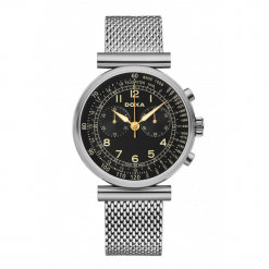 ZEGAREK DOXA Telemeter 160.10.105.10. Czarne zegarki męskie DOXA, ze stali. Za 1950,00 zł.