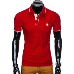 KOSZULKA MĘSKA POLO BEZ NADRUKU S920 - CZERWONA. Czerwone koszulki polo Ombre Clothing, m, z nadrukiem. Za 49,00 zł.