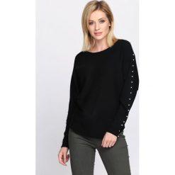 Swetry klasyczne damskie: Czarny Sweter Right Me