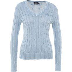 Polo Ralph Lauren KIMBERLY Sweter chambray. Niebieskie swetry klasyczne damskie Polo Ralph Lauren, xl, z bawełny, polo. W wyprzedaży za 382,85 zł.