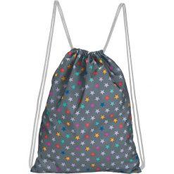 Plecaki damskie: Plecak w kolorze szarym ze wzorem – 33 x 42,5 cm