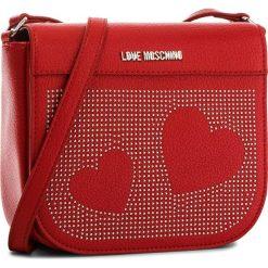 Torebka LOVE MOSCHINO - JC4114PP16LT0500  Ross. Czerwone listonoszki damskie marki Love Moschino, ze skóry ekologicznej. W wyprzedaży za 499,00 zł.