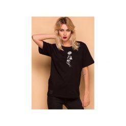 Rose T-shirt Bluzka. Czarne t-shirty damskie marki Animals Wave, l, z haftami, z bawełny. Za 79,00 zł.