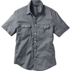 Koszule męskie na spinki: Koszula z krótkim rękawem Regular Fit bonprix dymny szary