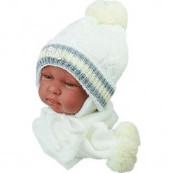 Czapka niemowlęca z szalikiem CZ+S 002C. Szare czapeczki niemowlęce Proman. Za 38,76 zł.