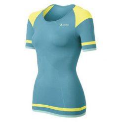 Odlo Koszulka damska Shirt s/s crew neck Evolution Light Trend turkusowa r. XS. Niebieskie bluzki sportowe damskie Odlo, s. Za 136,16 zł.