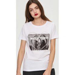 T-shirty damskie: T-shirt z nadrukiem fotograficznym – Biały