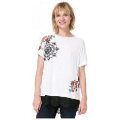 Desigual T-Shirt Damski Oporto M Kremowy. Białe t-shirty damskie marki Desigual, m. W wyprzedaży za 139,00 zł.