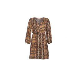 Sukienki krótkie Moony Mood  -. Brązowe sukienki mini marki Moony Mood, l, z krótkim rękawem. Za 129,00 zł.