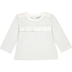 Bluza w błyszczące prążki, 1 mies. - 3 lata. Szare bluzy dziewczęce rozpinane La Redoute Collections, w paski, z bawełny, z długim rękawem, długie. Za 64,64 zł.