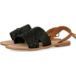 """Sandały damskie: Skórzane sandały """"Hanna"""" w kolorze czarnym"""