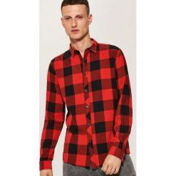 Koszula w kratę - Czerwony. Szare koszule męskie marki House, l, z bawełny. Za 59,99 zł.