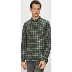 Tommy Jeans - Koszula. Szare koszule męskie jeansowe Tommy Jeans, l, w kratkę, z klasycznym kołnierzykiem, z długim rękawem. Za 299,90 zł.