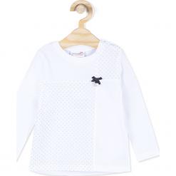Koszulka. Niebieskie bluzki dziewczęce marki bonprix, z wełny, z długim rękawem, długie. Za 29,90 zł.
