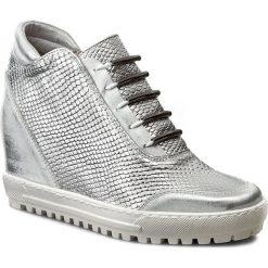 Sneakersy EKSBUT - 75-3880-D38/369-1G Srebro Lic. Szare sneakersy damskie Eksbut, ze skóry. W wyprzedaży za 239,00 zł.