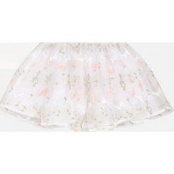 Mayoral - Komplet dziecięcy (top + spódnica) 92-134 cm. Szare bluzki dziewczęce bawełniane Mayoral, z nadrukiem, z okrągłym kołnierzem, z krótkim rękawem. Za 184,90 zł.