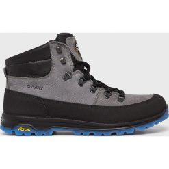 Grisport - Buty. Czarne buty trekkingowe męskie Grisport, na zimę, z materiału, na sznurówki, outdoorowe. Za 429,90 zł.